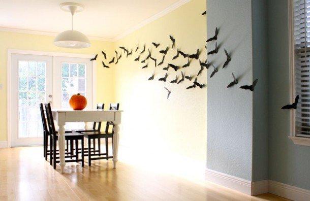 Идея для украшения комнаты на Хэллоуин