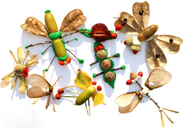 Идеи детских поделок из природных материалов