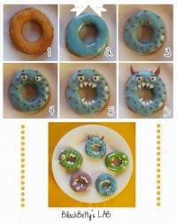 Украшаем пончики на Хэллоуин