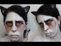 Макияж на Хэллоуин: Grumpy Cat