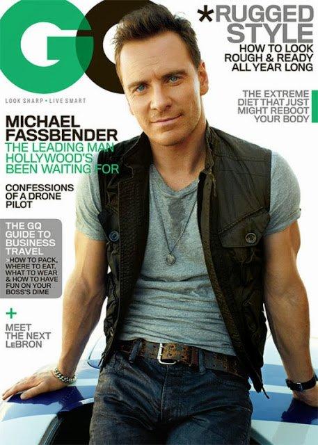 Майкл Фассбендер на обложке журнала GQ США: ноябрь 2013