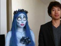 Макияж на Хэллоуин: труп невесты