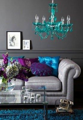 Нетрадиционные сочетания серого и других цветов в интерьере