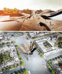Немного сумасшествия для нидерландцев: мост в виде тюльпана в Амстердаме