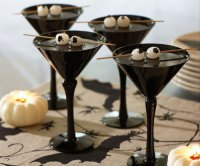 Идея оформления коктейля на Хэллоуин