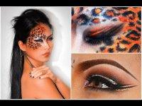 Макияж на Хэллоуин «Леопард»