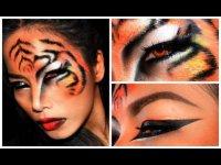 Макияж на Хэллоуин «Тигрица»