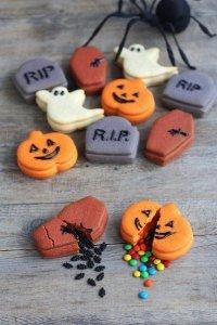 Оригинальное печенье с наполнителем на Хэллоуин
