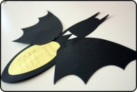 Приглашения в виде летучей мыши на Хэллоуин