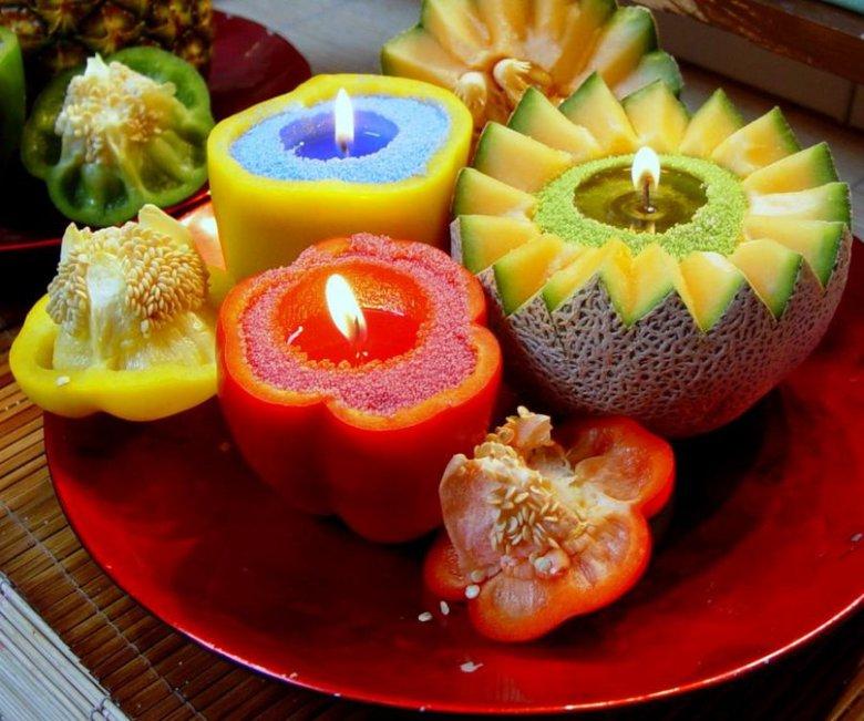 Свечи в фруктах