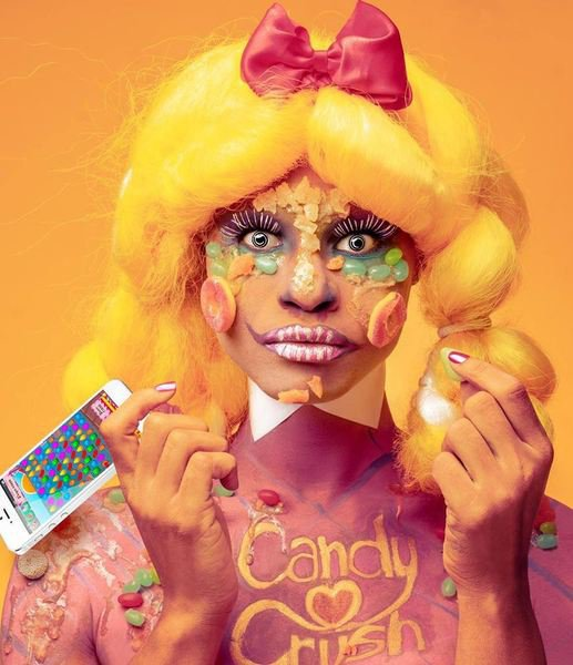 Макияж на Хэллоуин: конфетный монстр