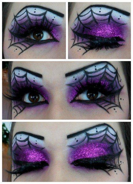 Макияж глаз с паутинкой