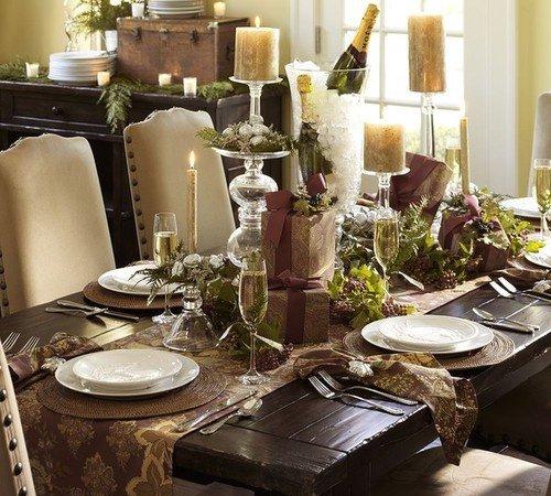 Новогодняя сервировка стола: как украсить стол в год Лошади