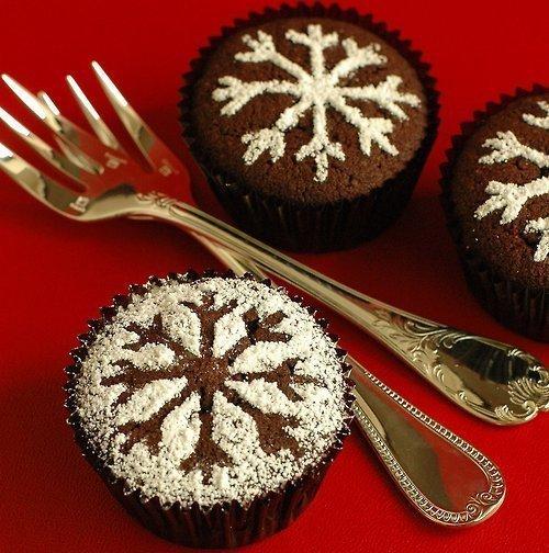 Новогоднее украшение кексов