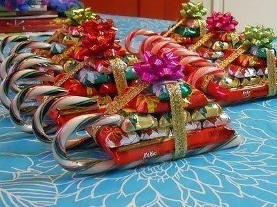 Сладенькие саночки для новогоднего подарка
