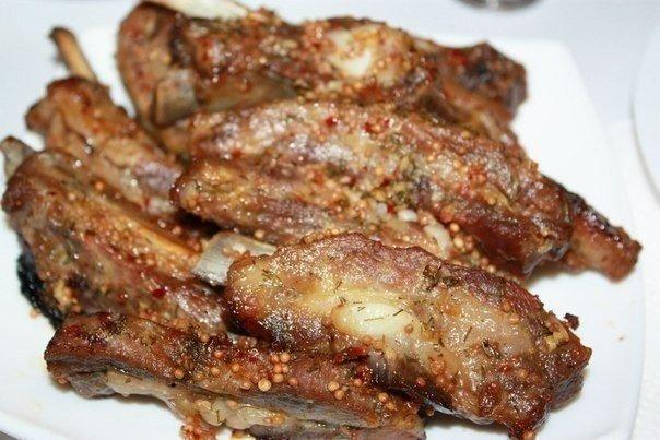 Свиные ребрышки в цитрусово-медовом маринаде