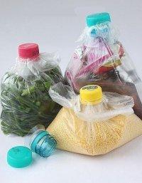 Идея хранения продуктов в пакетах