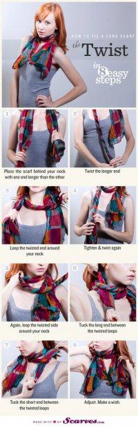 Как завязать шарф: твист