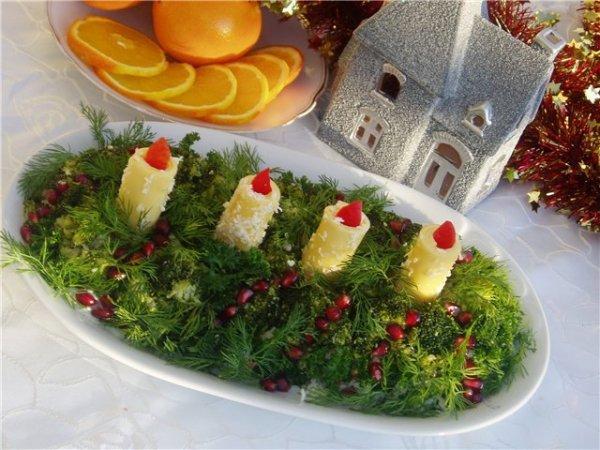 Салат «Новогодние свечи»
