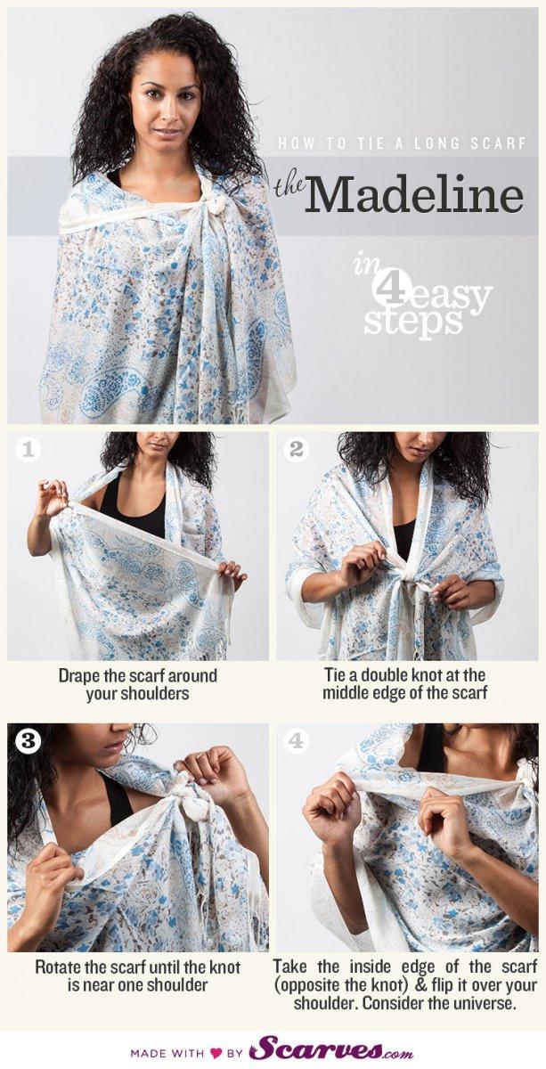 Как завязать шарф: Мадлен