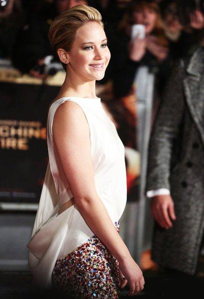 Дженнифер Лоуренс на лондонской премьере «Голодные игры: И вспыхнет пламя»