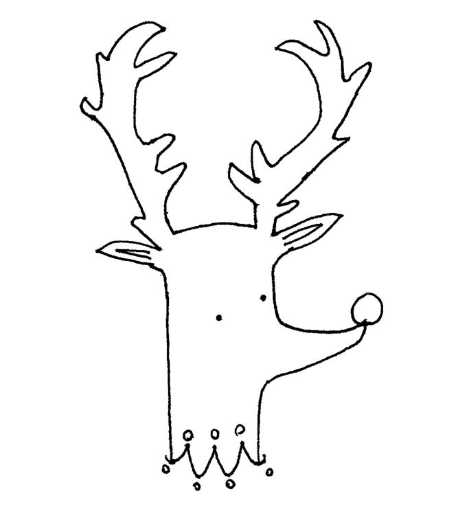 Раскраска для детей «Рудольф»