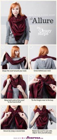 Как завязать шарф: аллюр