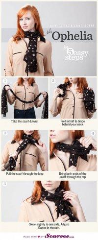 Как завязать шарф: Офелия
