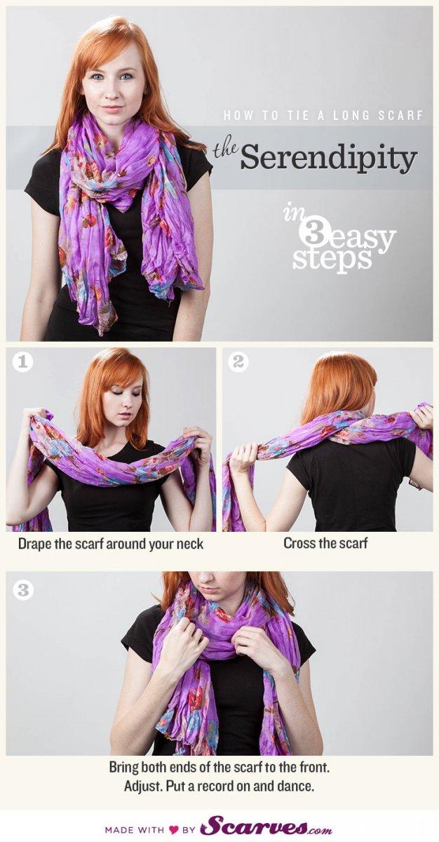 Простой способ завязать шарф