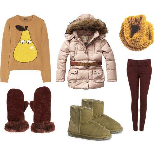 С чем носить угги зимой