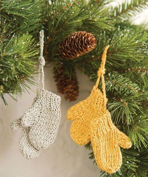 Идея вязаных игрушек на елку