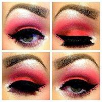 Яркий новогодний макияж глаз