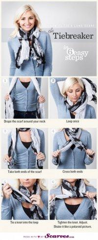 Как завязать шарф: тайбрейкер