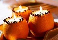 Свеча в апельсине
