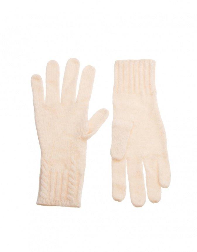 Зимние белые перчатки
