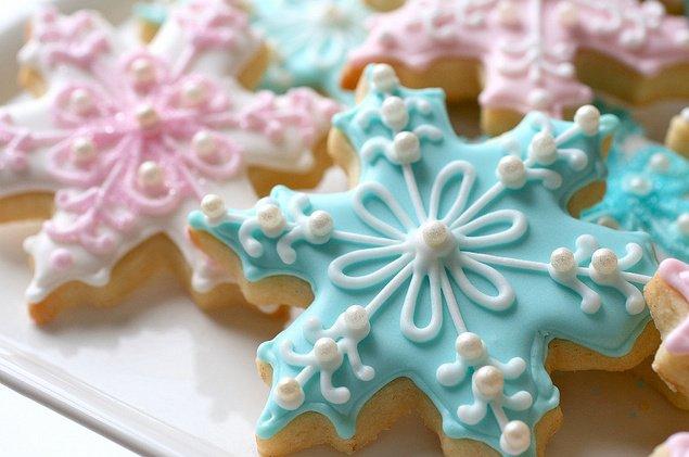 Новогоднее печенье «Лимонные снежинки»