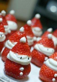 Клубничный десерт на Новый год