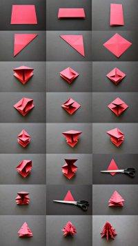 Елочка-оригами