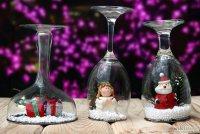 Оригинальное и простое новогоднее украшение из бокалов