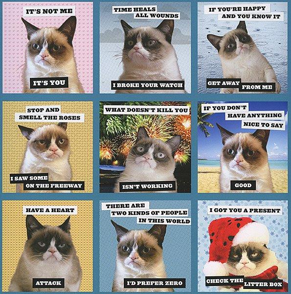 Календарь 2014 с Grumpy Cat