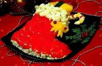 Новогодний закусочный торт «Сапожок»