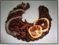Новогодняя подкова из кофе