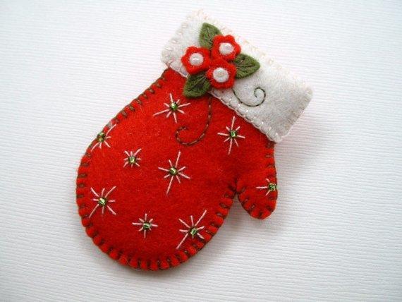 Рождественская варежка
