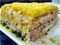 Рыбный закусочный торт