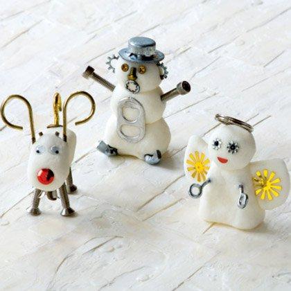 Белоснежный домашний пластилин для детских новогодних поделок