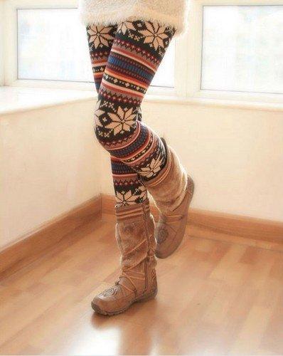 С чем носить леггинсы зимой