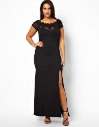Черное новогоднее платье для полных