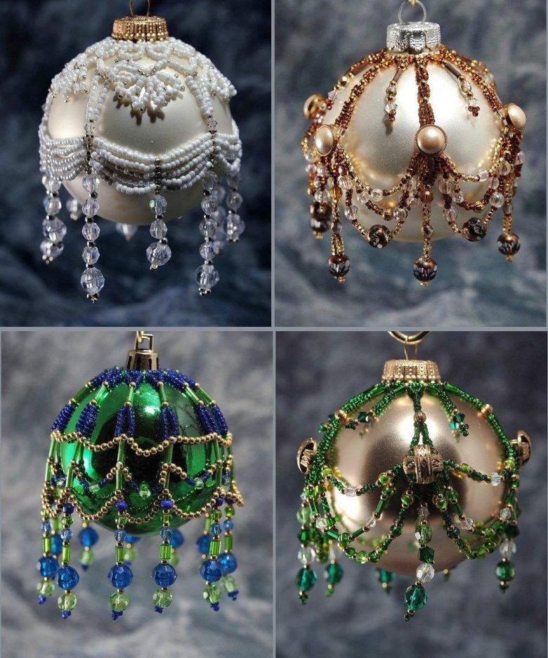 Идея украшения новогодних шаров