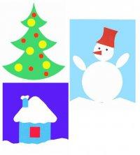 Примеры детских аппликаций на Новый год