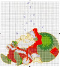 Схема вышивки Деда Мороза
